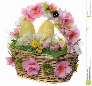 Panier Oeufs De Paques : panier en osier avec des oeufs de p ques photos stock image 23097903 ~ Melissatoandfro.com Idées de Décoration