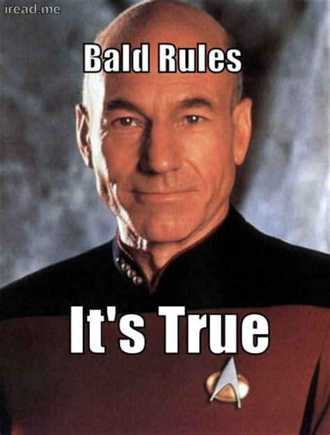 Baldness Meme - star trek leadership and stars on pinterest