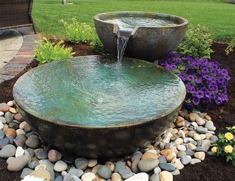 small fountain enhances backyard relaxation  top picks   relaxing garden ponds