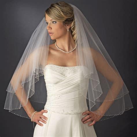 Bridal Wedding Double Layer Fingertip Length Swarovski