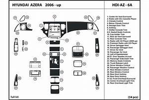 2007 Hyundai Azera Dash Kits