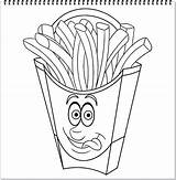 French Coloring Fries Plus Google Character sketch template