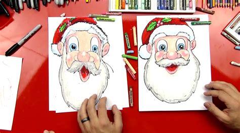 draw santa clauss face art  kids hub