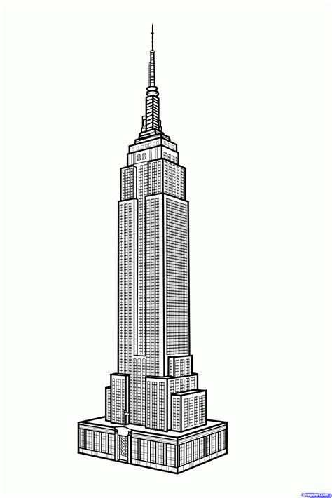 How To Draw The Empire State Building Empire State