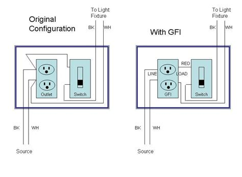A Light Wiring Diagram For Gfi by Gfi Trip With Light