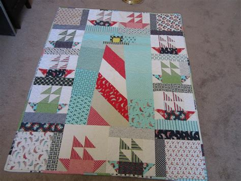 Lighthouse And Sailboats Quilt By Sky High Fibers