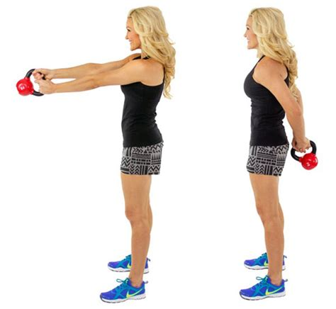 kettlebell around minute exercise exercises workout body lunge push press fitness