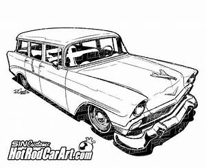 1956 chevrolet nomad classic car clip art cars With 1955 chevy hot rods
