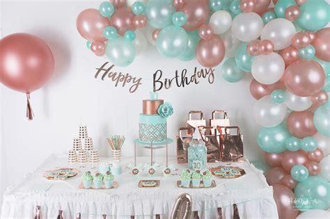 decoration anniversaire  ans rose gold