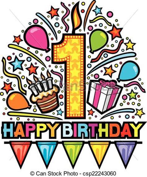 clipart buon compleanno buon compleanno disegno primo compleanno etichetta