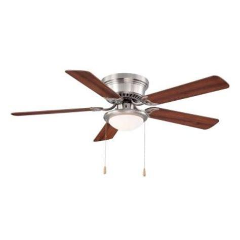 52 hugger ceiling fan hugger 52 in brushed nickel ceiling fan al383 bn the
