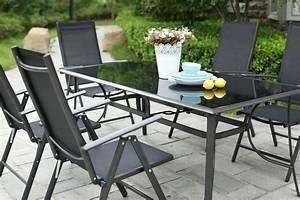 Salon Aluminium De Jardin : table de jardin 10 personnes 8 chaises en aluminium ~ Edinachiropracticcenter.com Idées de Décoration