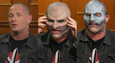 Slipknot's Corey Taylor Tries On His New Mask For Larry