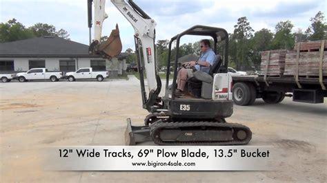 bobcat  mini excavator  sale youtube