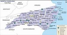 Map of North Carolina | State map of USA