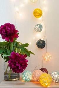 Cotton Balls Lichterkette : cotton ball lichterkette diy handmade kultur ~ Eleganceandgraceweddings.com Haus und Dekorationen