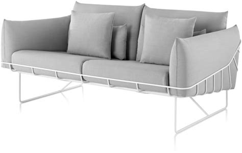 herman miller s wireframe sofa makes lounging around