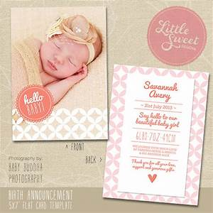 5x7 birth announcement template baby announcement for Baby birth announcements templates for free