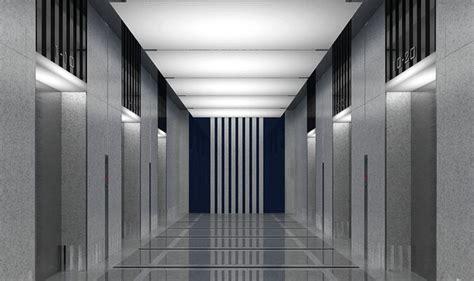 elevator hallway  cgtrader