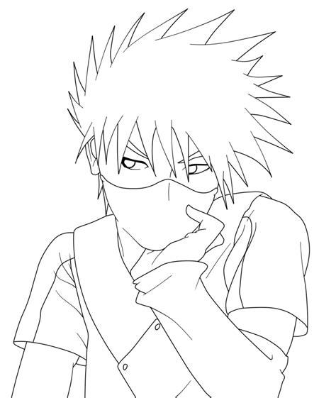 kakashi drawing coloring pages
