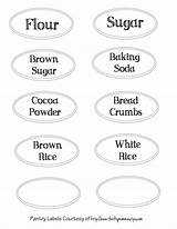 Pantry Labels Printable Kitchen Printables Bread Templates Thriftymommastips sketch template