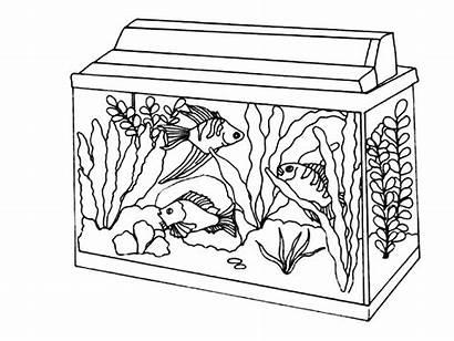 Coloring Aquarium Fish Acquario Colorare Kolorowanki Akwarium