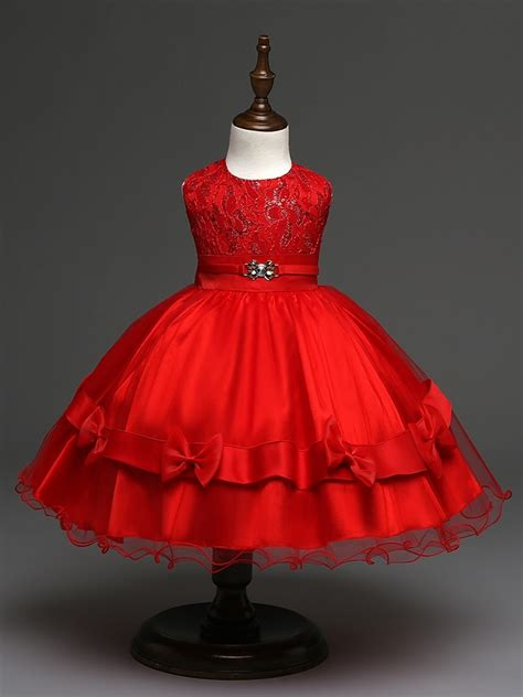 cute baby girl party dress wedding redgold sequin