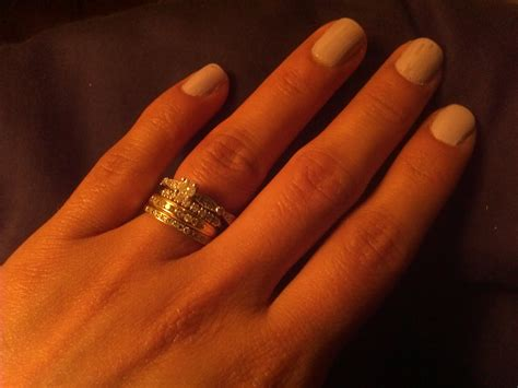 i d love to see your pics with your wedding bands and engagement rings together weddingbee