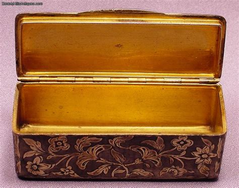 Rare Antique French Silver & Gold Fancy Box For Sale