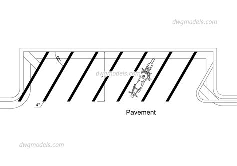 Motorcycle Parking Free Dwg File, Autocad Drawings Download