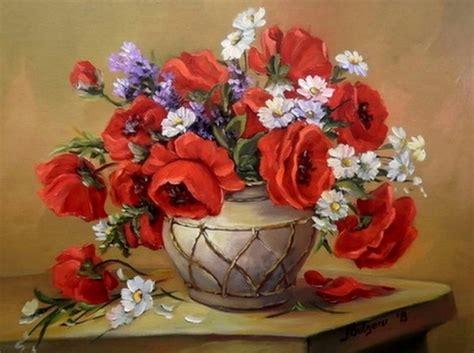 pintura de flores al oleo imagui