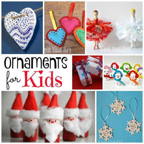 christmas ornaments for kids to make red ted art s blog
