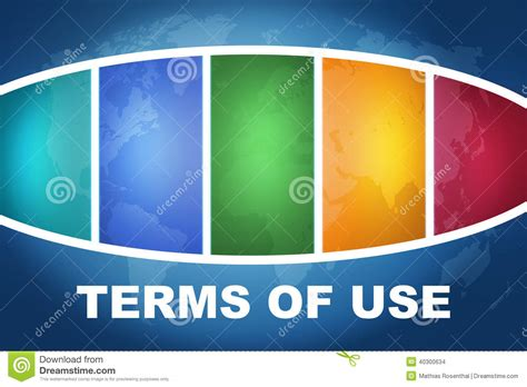 terms of use terms of use stock illustration image 40300634
