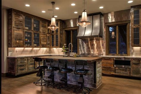 contemporary kitchen countertops lake tahoe getaway features contemporary barn aesthetic