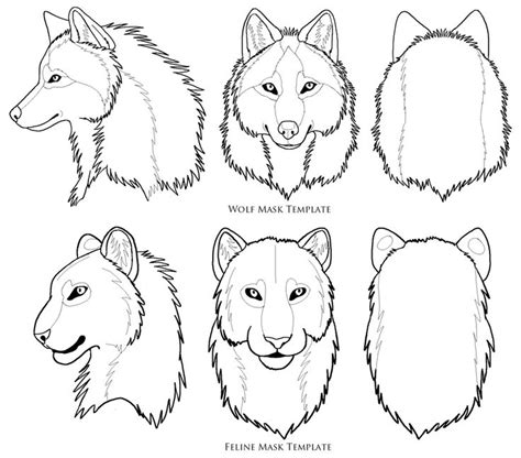 wolf mask template ava wolf mask mask drawing mask