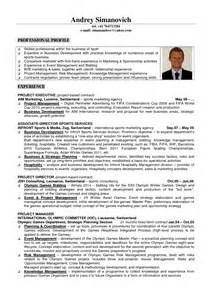 resume format sles switzerland resume exle