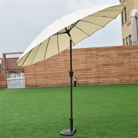 9ft adjustable height outdoor patio umbrella push button