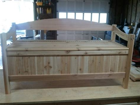 Storage Bench Seat With Back by Storage Bench With Back Treenovation