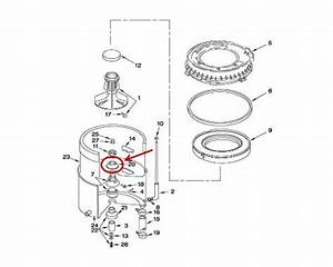 Whirlpool Part  Wp211210 Clamping Nut Washer  Oem