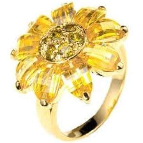 sunflower diamond ring sunflower wedding pinterest