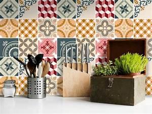 Carrelage Adhesif Pour Salle De Bain : le carrelage adh sif carreaux de ciment un relooking facile pas cher ~ Mglfilm.com Idées de Décoration