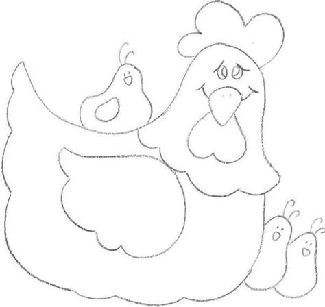 chicken template de 25 bedste id 233 er inden for chicken pattern p 229