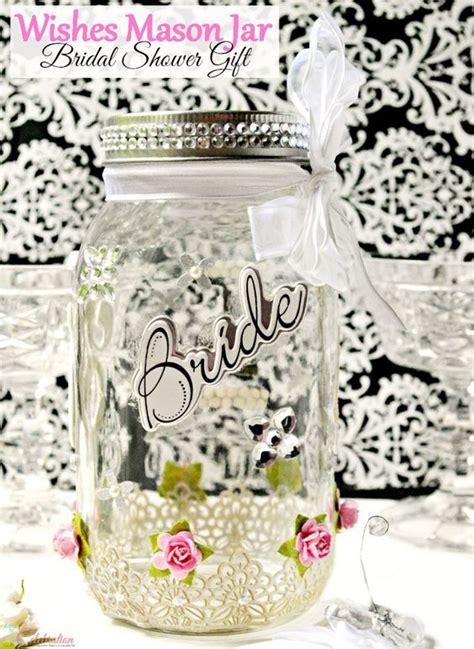 wishes mason jar bridal shower gift crafts masons and