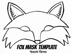 fox template fox mask template foxy fox pinterest With template of a fox
