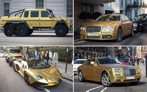 Saudi Tourist Brings Four Gold Cars Worth More Than £1m To