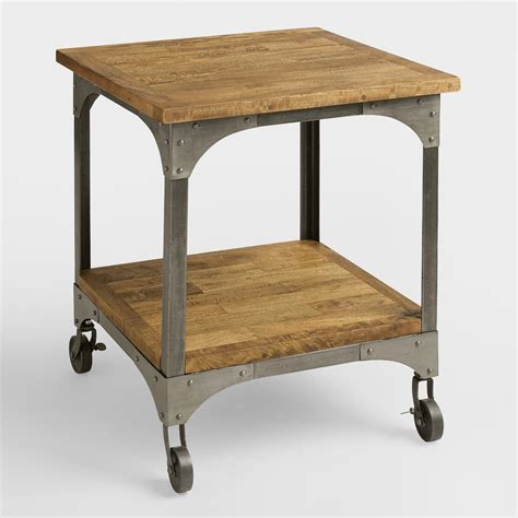 wood and metal end tables wood and metal aiden end table market