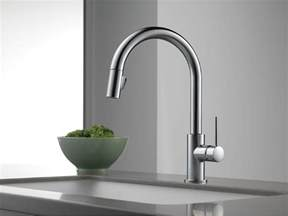 stainless kitchen faucets delta 9159 ar dst trinsic single handle pull kitchen faucet stainless faucetdepot