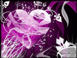 Hearts Purple Backgrounds - Twitter & Myspace Backgrounds