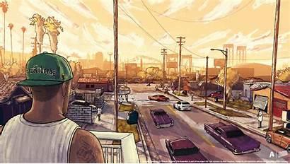 Gta Artwork Andreas San Wallpapers 4k Mta