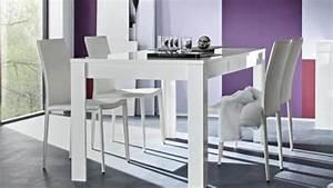 Table Salon Blanc Laqué : table de salle manger laqu blanc rectangulaire 160 cm magao mobilier moss ~ Teatrodelosmanantiales.com Idées de Décoration